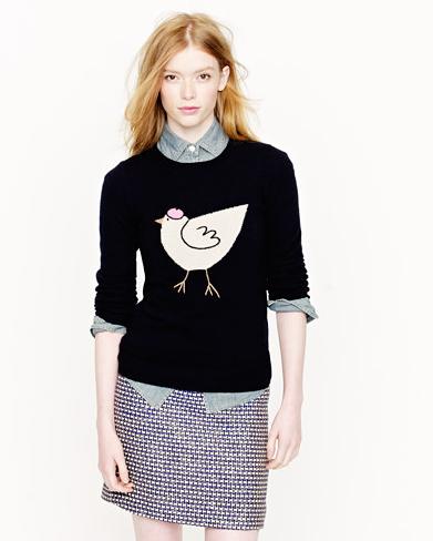 J Crew Chicken Sweater