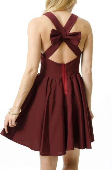 Garnet Game Day Dress Back