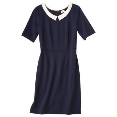 Merona Peter Pan Collar Navy Dress