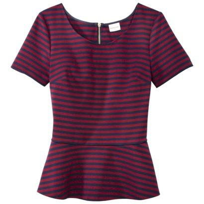 Merona Striped Peplum Top