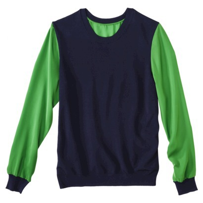 Navy and Green Phillip Lim