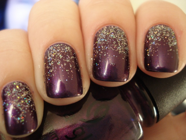 Eggplant with Glitter