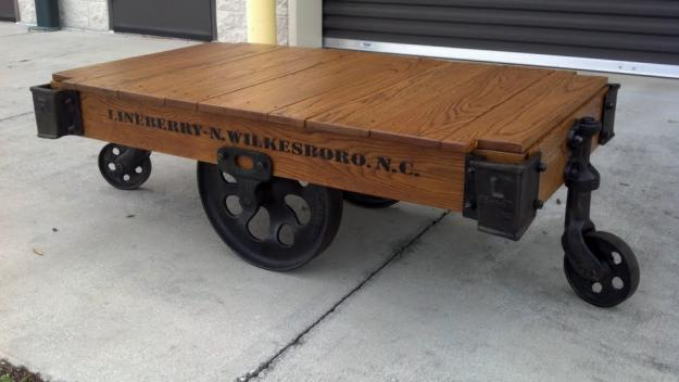 Lineberry-Vintage-Authentic-Railroad-Industrial-Factory-Carts