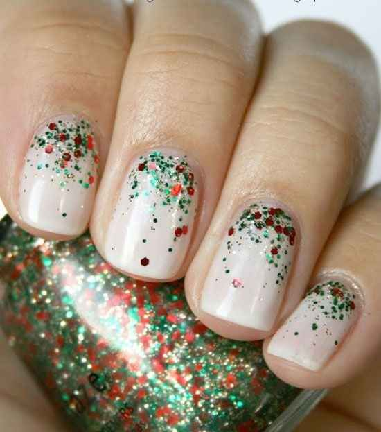 Red and Green Sparkle