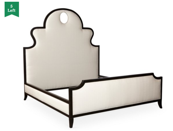 Denise Upholstered Panel Bed, Beige