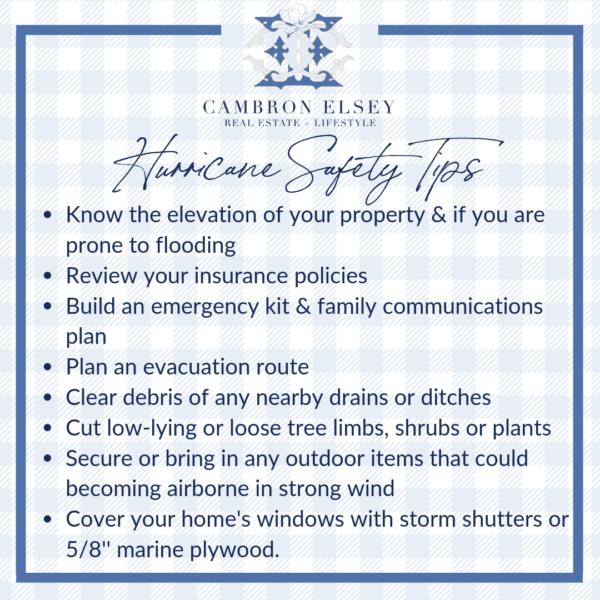 Hurricane Safety Tips